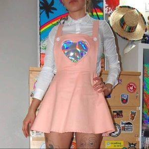 Pastel Skater Dress w/ Holographic Heart Pocket